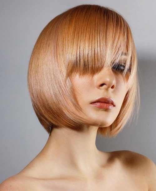 Women's haircuts straight hair with bangs