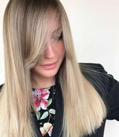 Fashionable bangs for straight hair