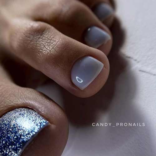 New items of French pedicure spring-summer