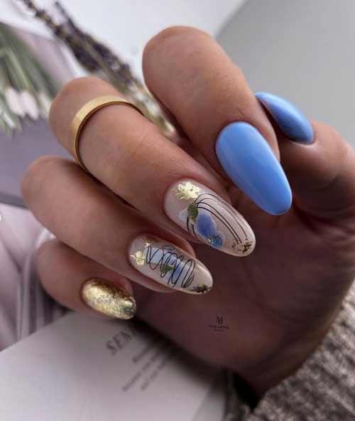 Exquisite manicure with potal foil