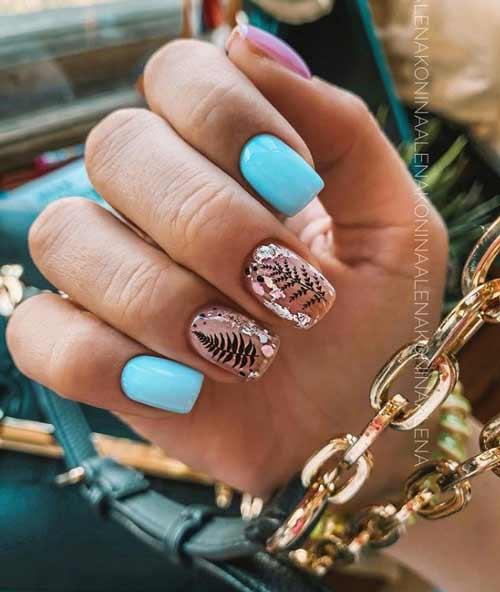 Green-blue manicure