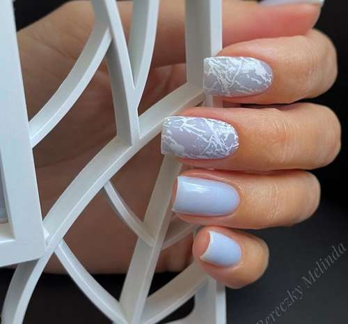 Light blue with a delicate pattern