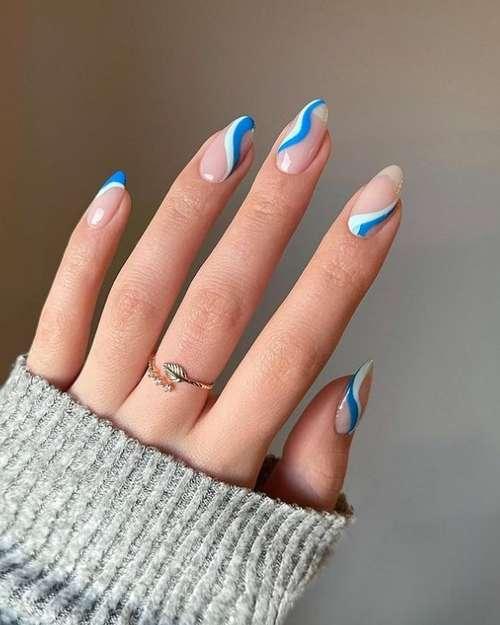 Blue-blue manicure