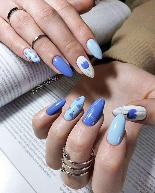 Blue Manicure 2021: Trending Nail Designs in Blue Tones
