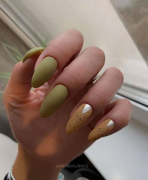 Moon manicure two colors