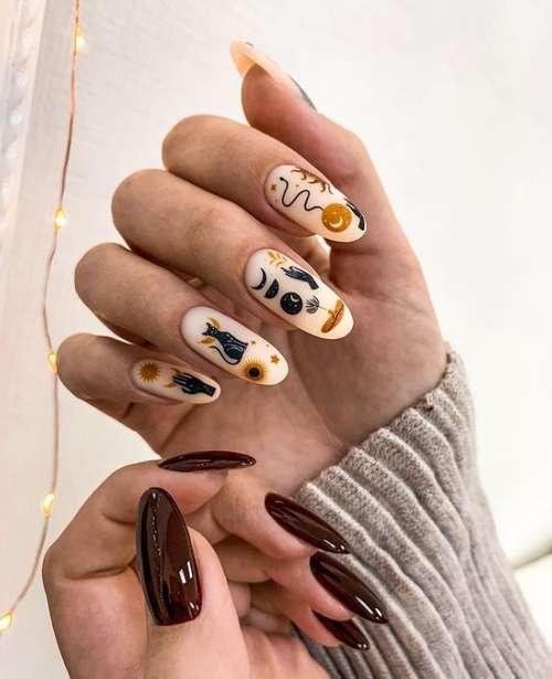 Manicure different hands