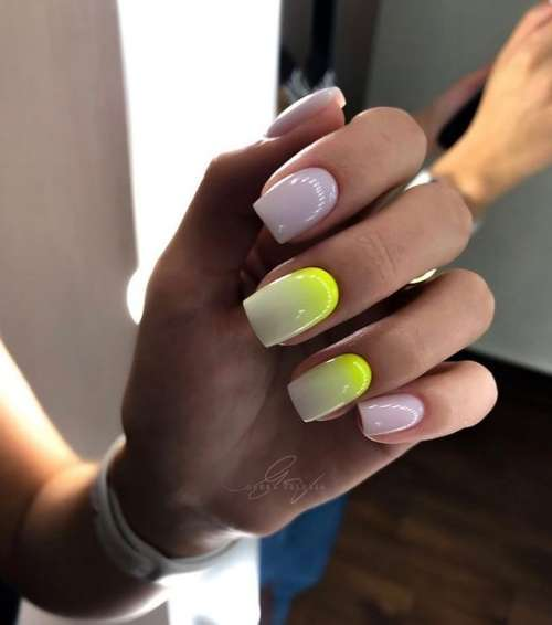 Summer ombre on nails
