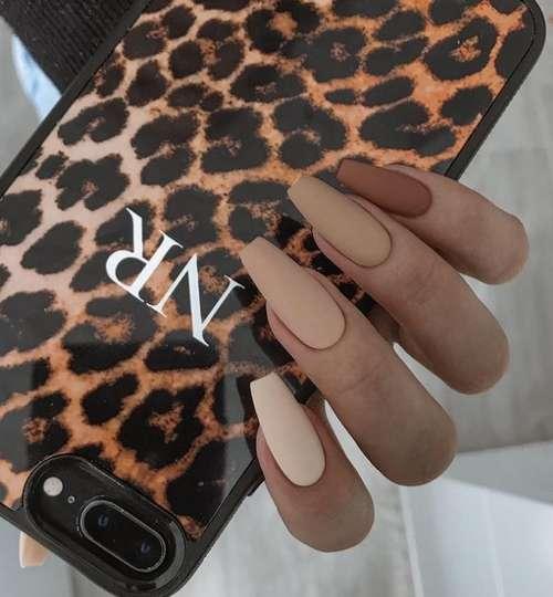 Classic two-tone manicure