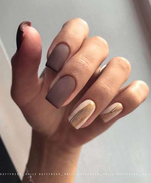 Classic manicure two colors