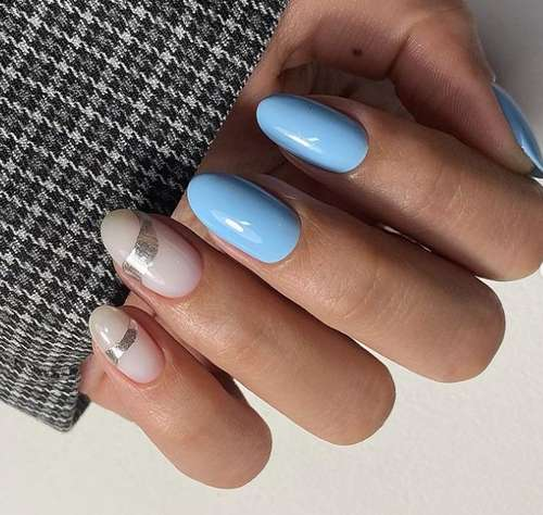 Classic blue manicure