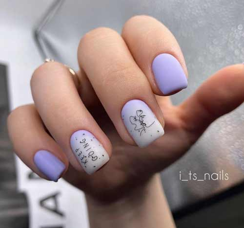 Lilac with milky gradient and sliders