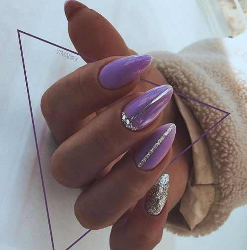 Elegant lilac manicure