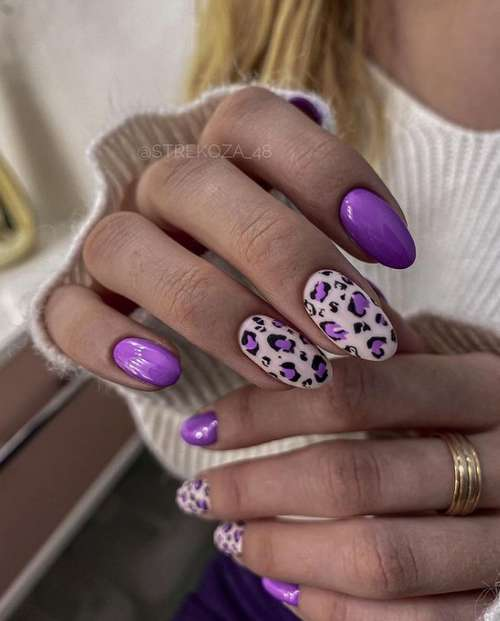 Manicure spring lilac