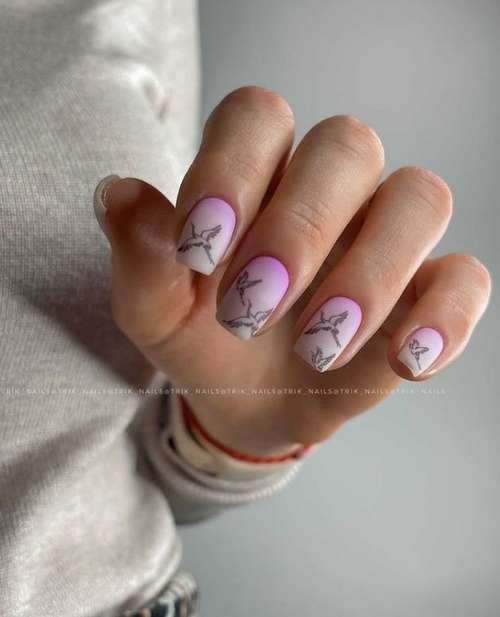 Lilac for short nails
