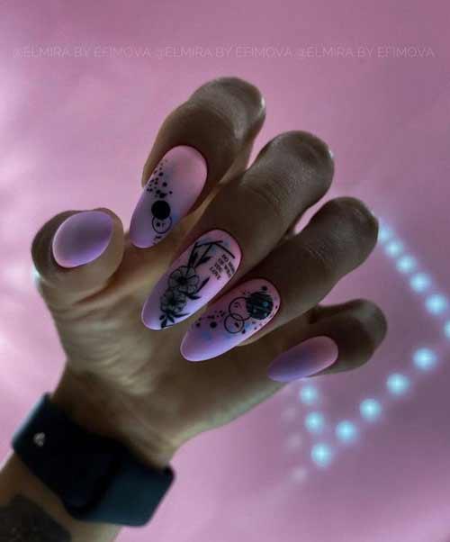 Lilac long nails