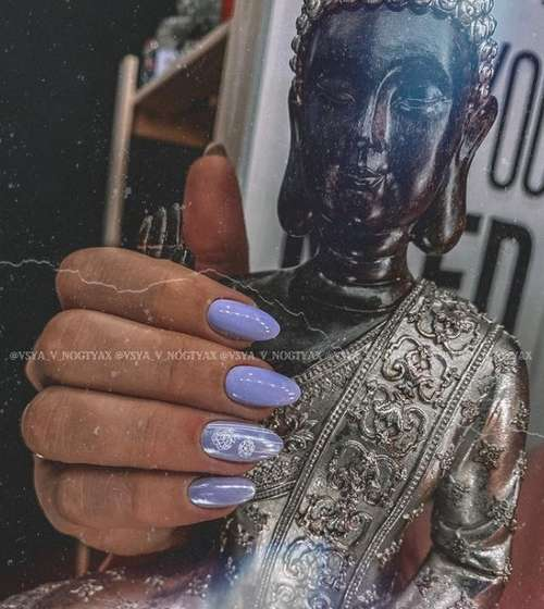 Lilac manicure 2021: beautiful new items, photo with design