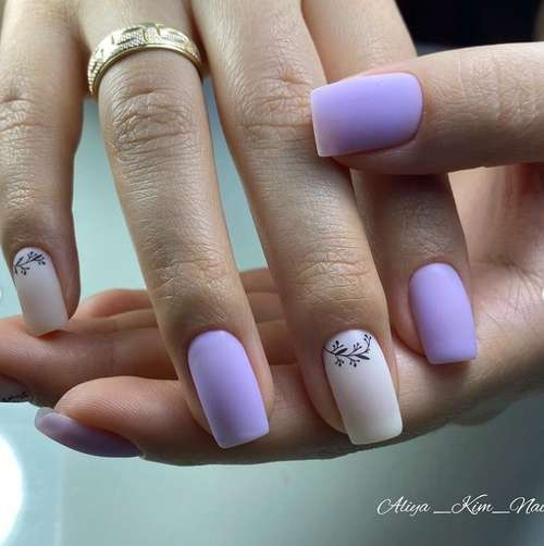 Lilac with a twig manicure