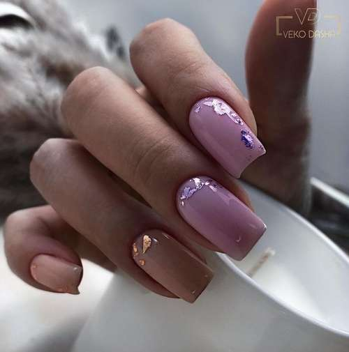 Lilac beige with foil