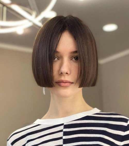 Short haircuts for girls without bangs