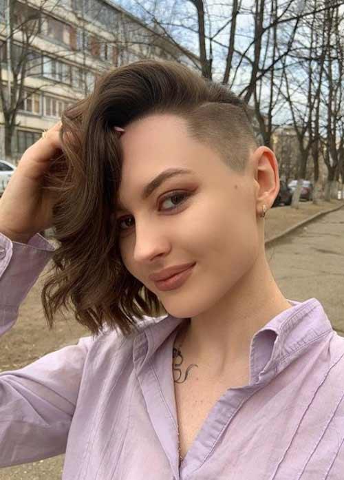 Undercut haircut for girls without bangs
