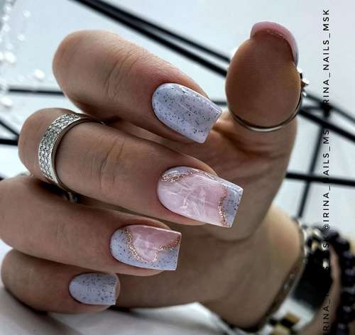 Pink with foil