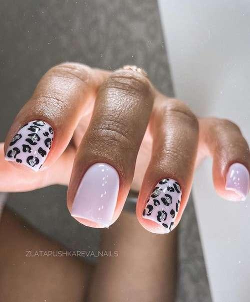 Fashionable pink manicure photo design