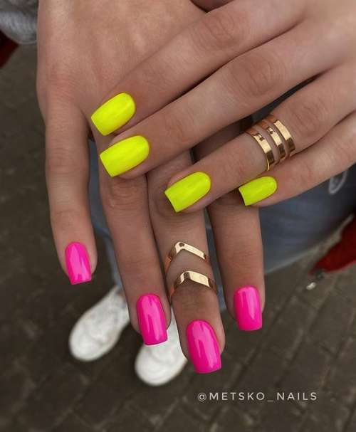 Two-tone pink manicure