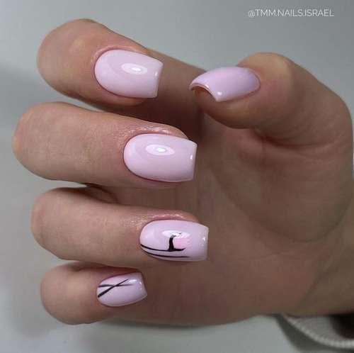Pink manicure 2021: fashionable novelties of pink manicure