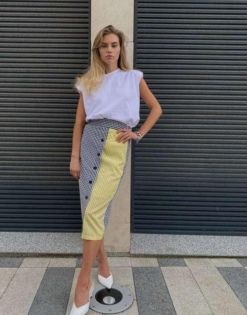 Two-tone fashion skirt
