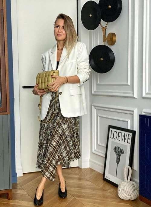 Fashion printed midi skirt