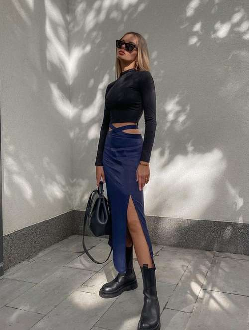 Fashionable skirt belt with ties