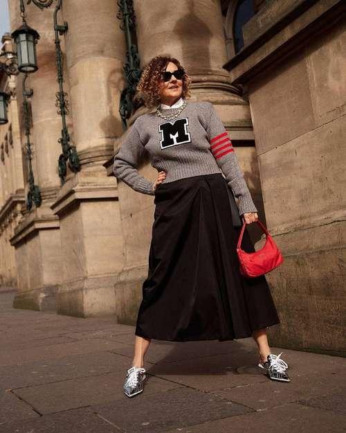 Fashionable skirt for women 40-50