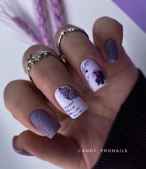Butterflies on nails with a slider