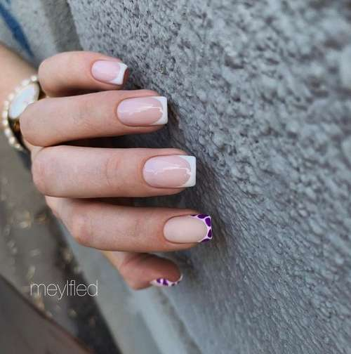 Colored jacket on one nail