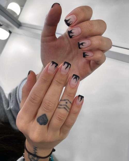 Black jacket for short nails