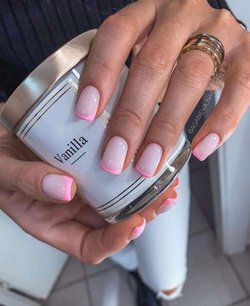 Colored jacket for short nails: photo design 2021, trends