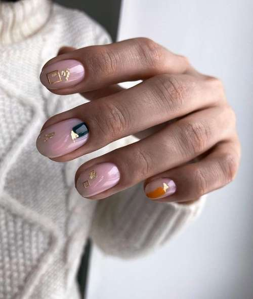 Delicate pink manicure