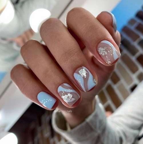 Delicate summer short manicure