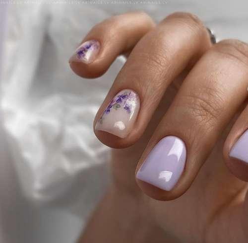 Lilac gentle manicure
