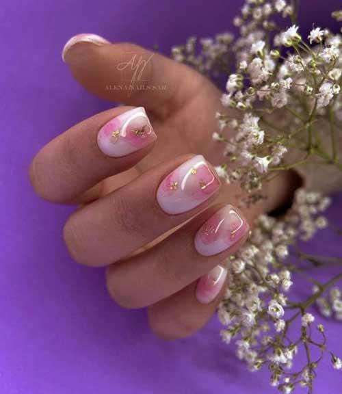 Spring delicate nail art
