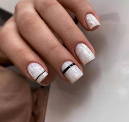 Milky delicate nails
