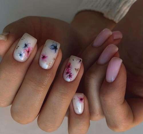 Summer gentle manicure