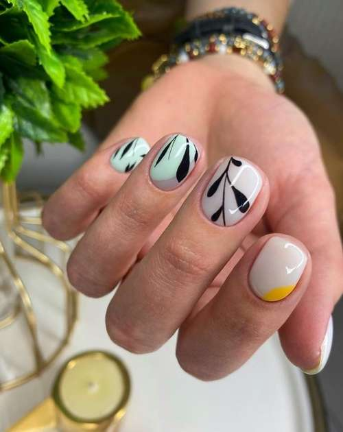 Fashionable gentle manicure