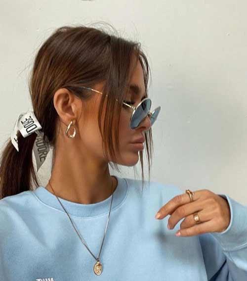 Fashionable thin bangs