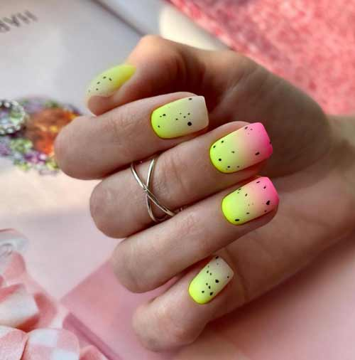 Milky gradient on nails: trendy manicure