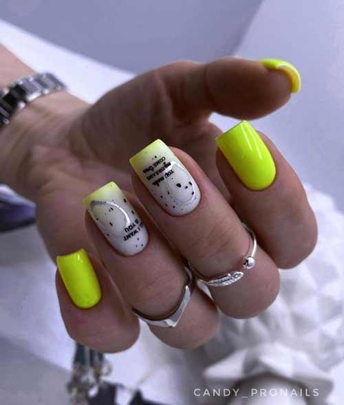 Milky gradient design on nails trend