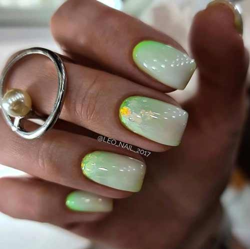 Milky Mint Glitter Gradient