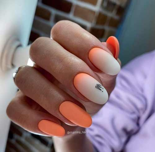 Milky gradient on nails trend