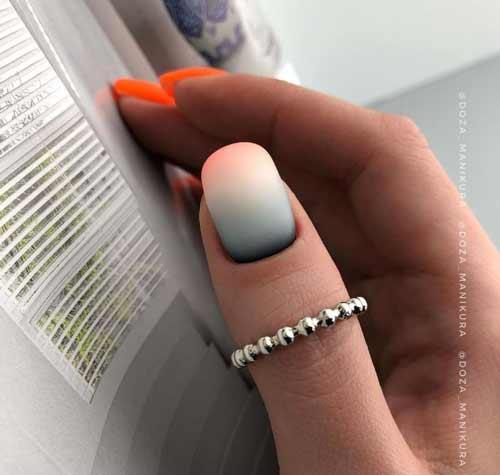 Multicolor milky gradient