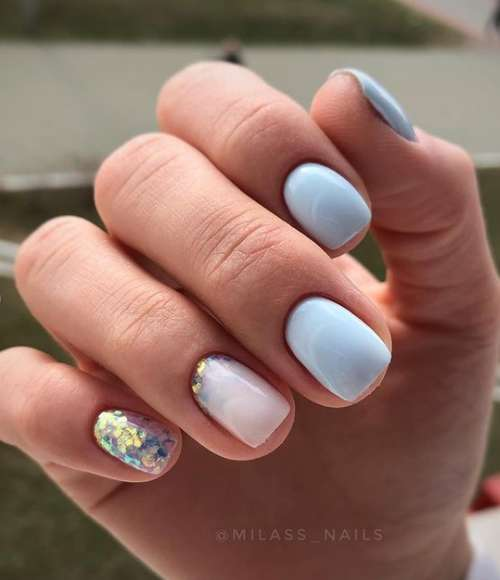 Milky gradient on nails: trendy manicure 2021, photo
